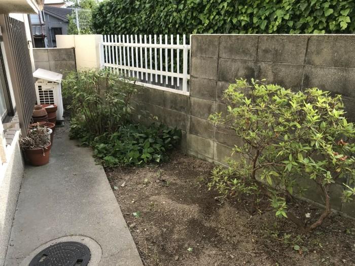 神戸市垂水区D様邸 お庭のお手入れ のビフォー画像2
